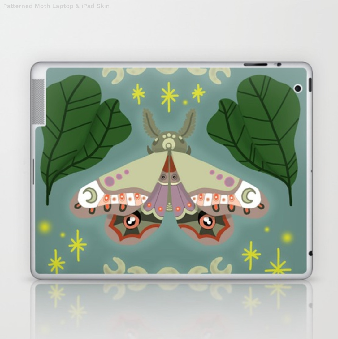 Patterned Moth Laptop & iPad Skin by kirstieeleanor   Society6