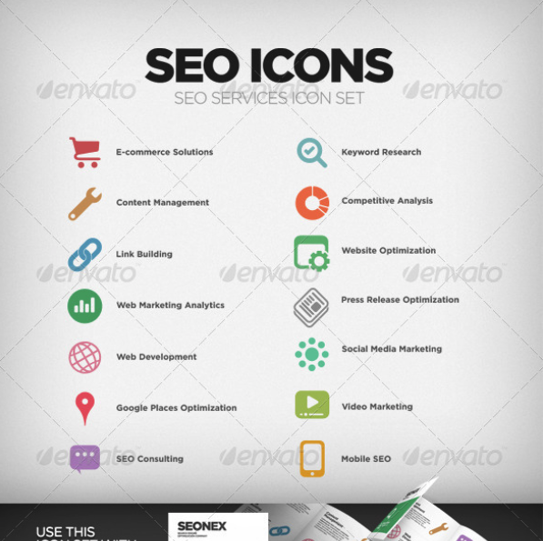 SEO Company Services Icon Set by MikeKondrat | GraphicRiver