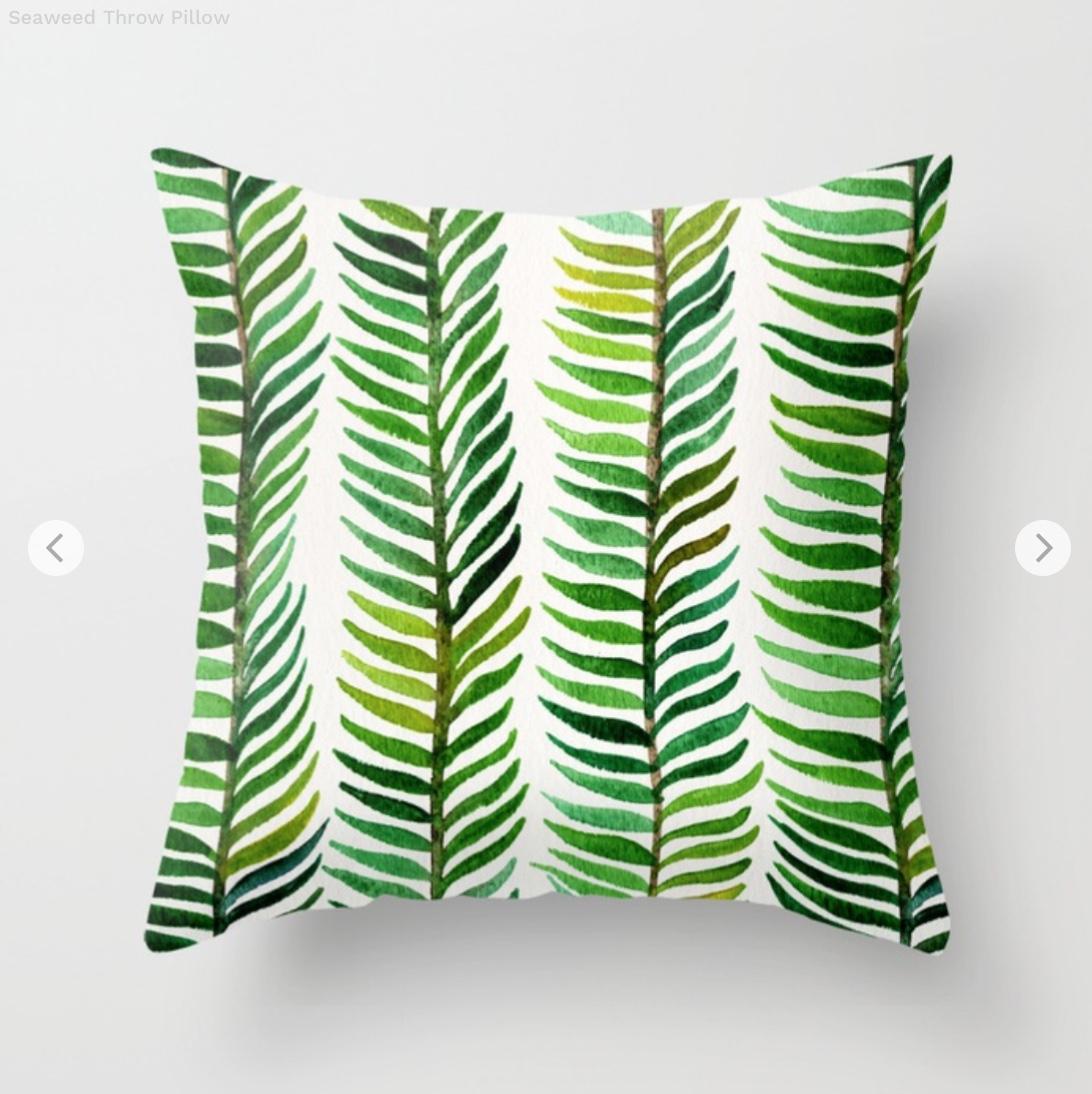 Seaweed Throw Pillow by catcoq   Society6