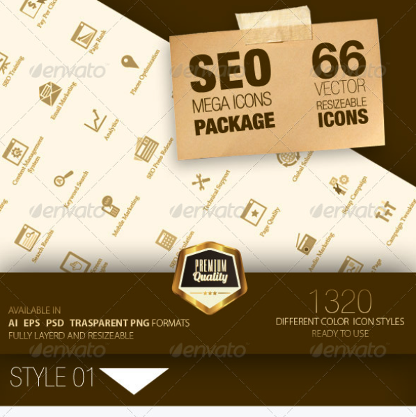 Seo Mega Icons Pack by feeltheblue | GraphicRiver