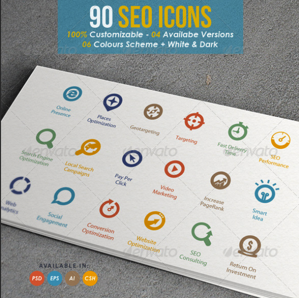 Targo - Premium SEO Industry Icons by kh2838 | GraphicRiver