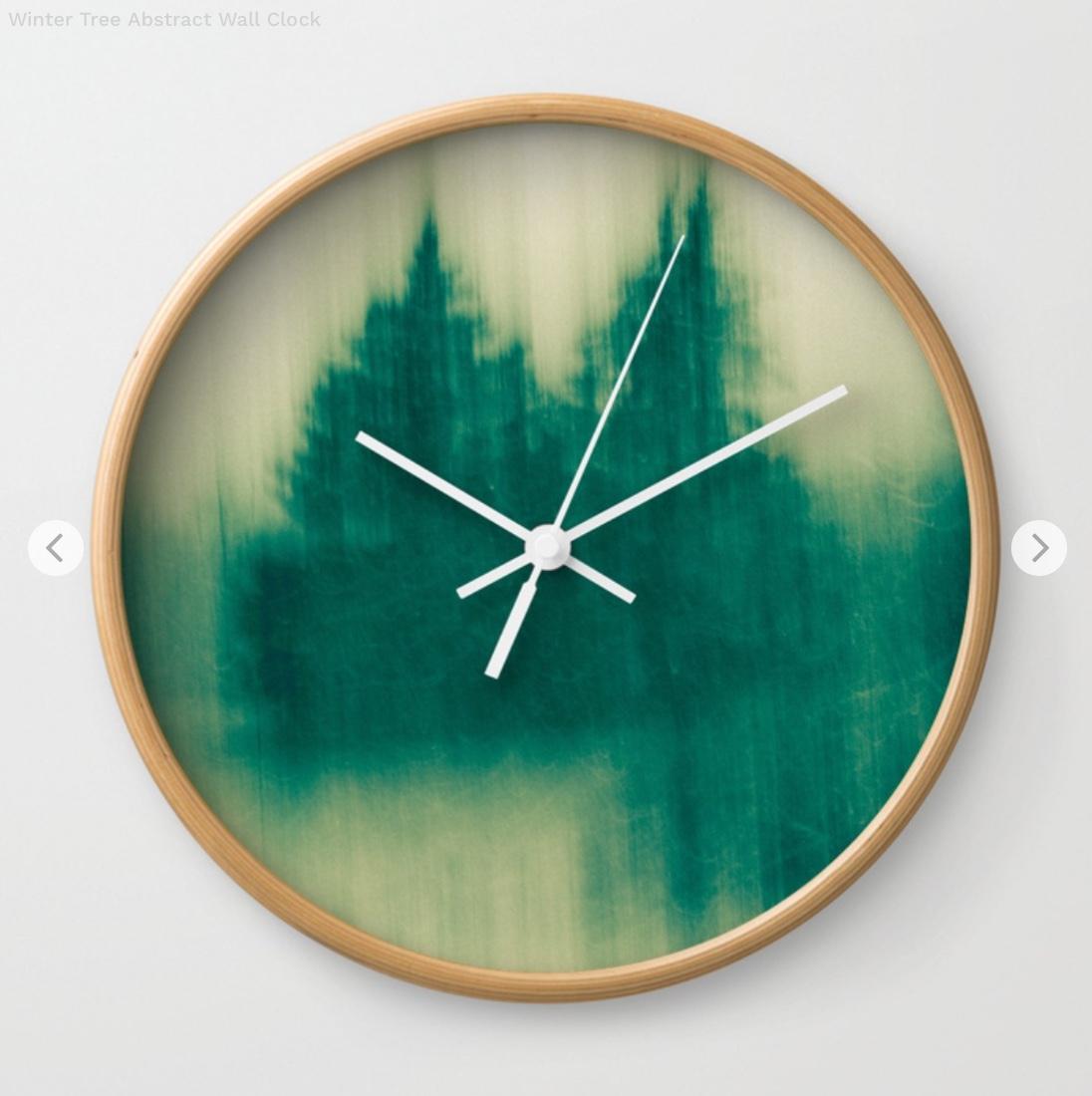 Winter Tree Abstract Wall Clock by joystclaire   Society6