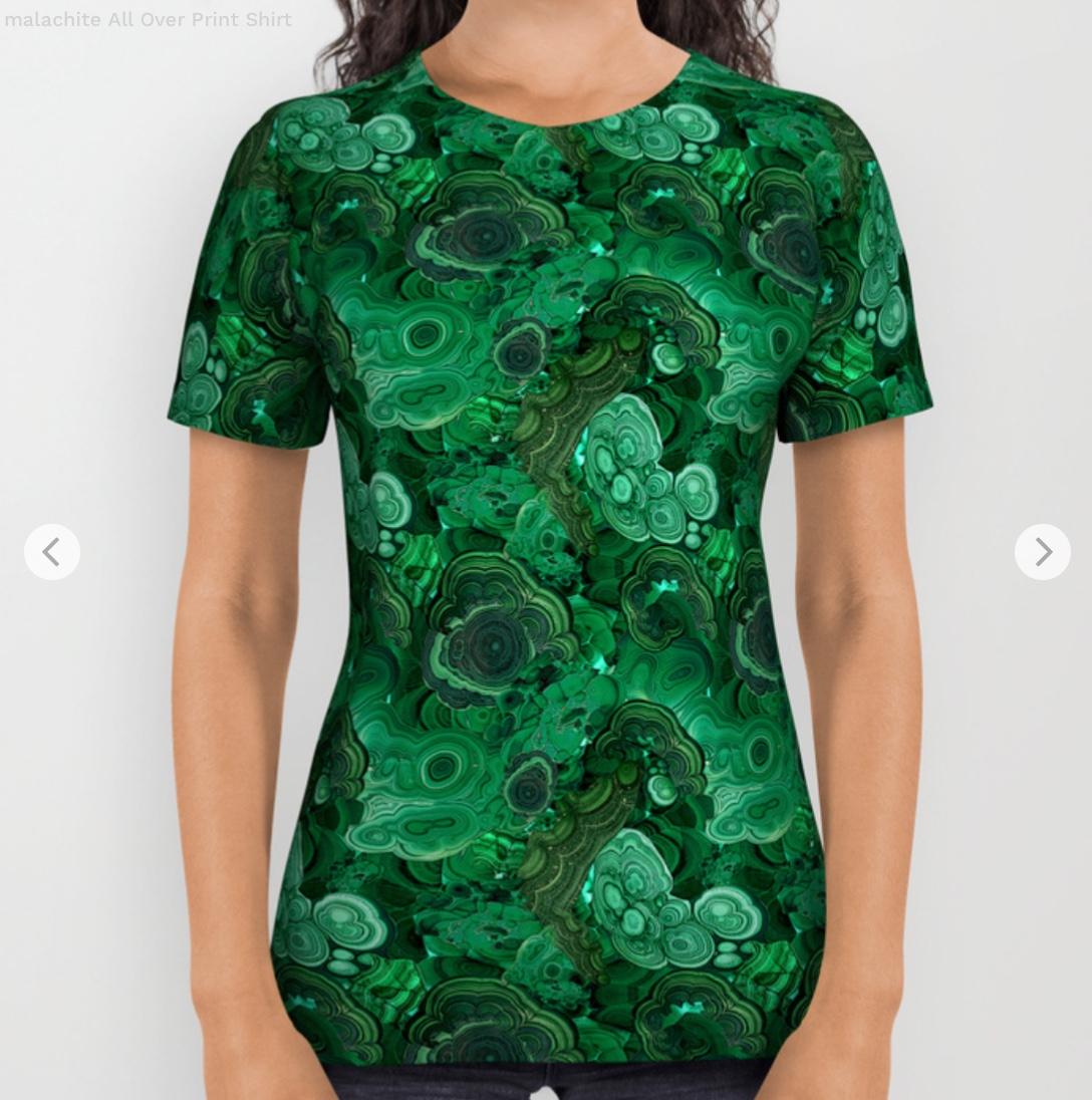 malachite All Over Print Shirt by ravynka   Society6