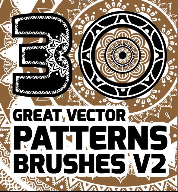 30 great vector patterns brushes v2