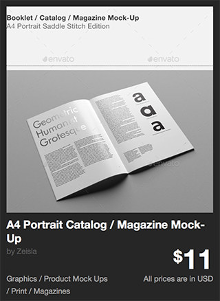A4 Portrait Catalog / Magazine Mock-Up by Zeisla | GraphicRiver