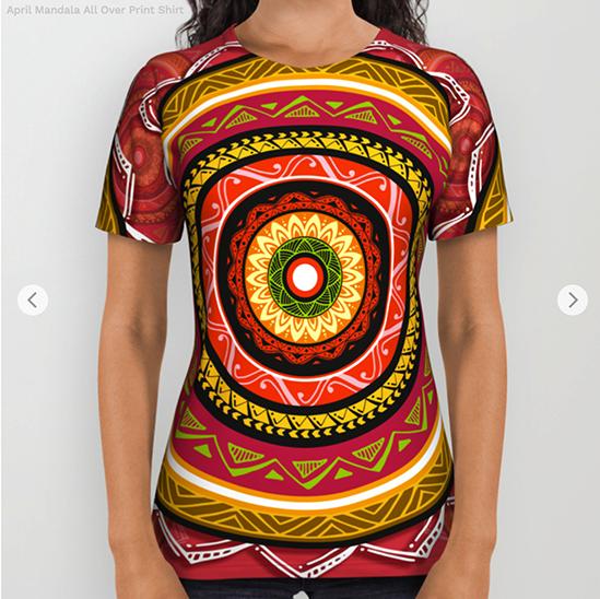 April Mandala All Over Print Shirt by angeldecuir | Society6