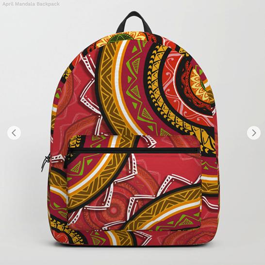 April Mandala Backpack by angeldecuir | Society6