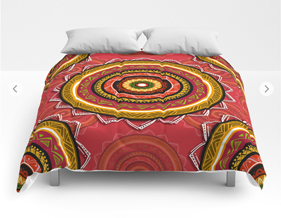 April Mandala Comforters by angeldecuir | Society6