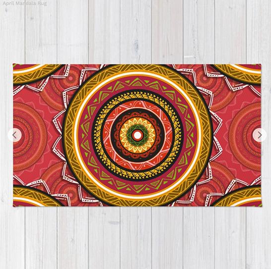 April Mandala Rug by angeldecuir | Society6