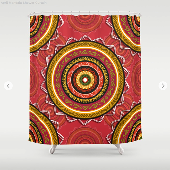 April Mandala Shower Curtain by angeldecuir | Society6