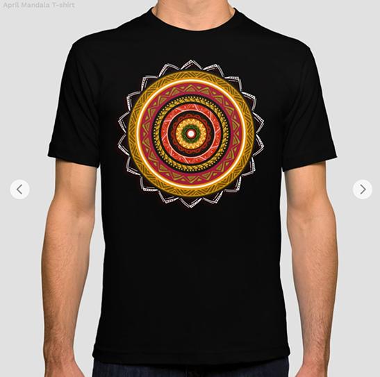 April Mandala T-shirt by Angel Decuir | Society6