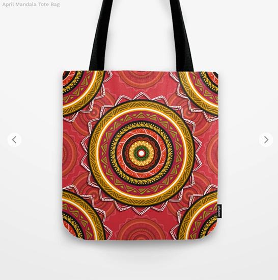 April Mandala Tote Bag by angeldecuir | Society6