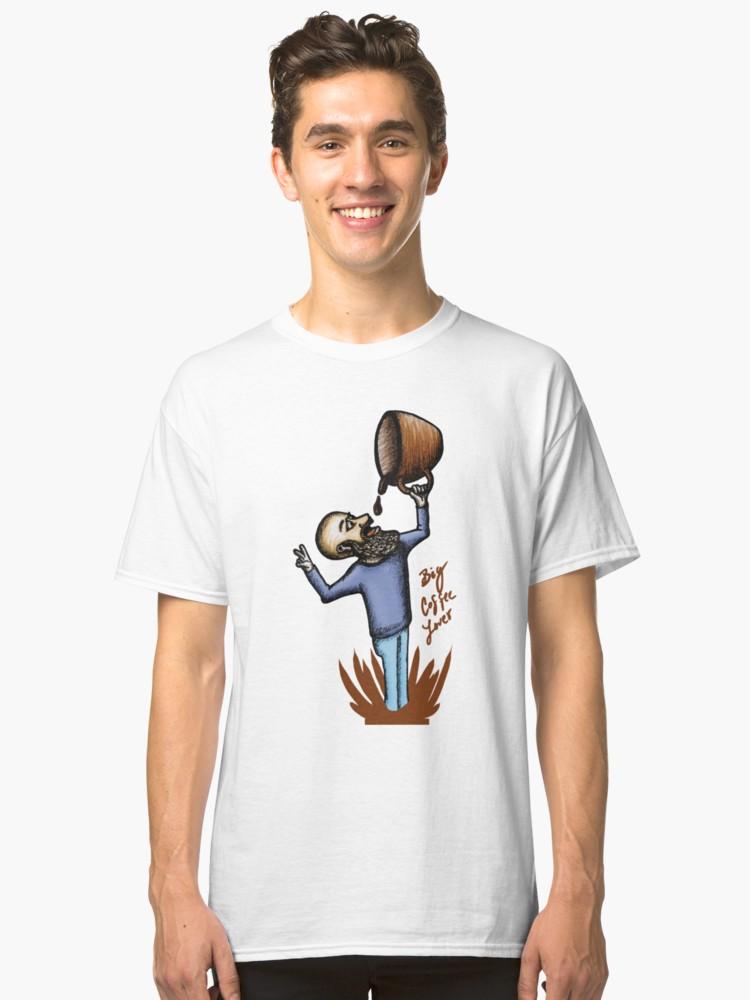 Camisetas clásicas «Big Coffee Lover» de angeldecuir | Redbubble