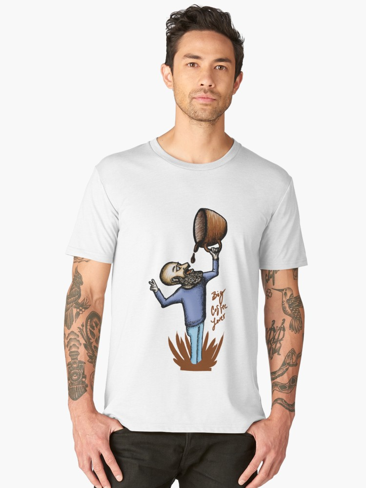 Camisetas premium para hombre «Big Coffee Lover» de angeldecuir | Redbubble