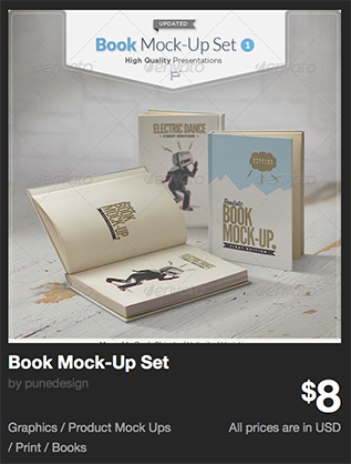 Book Mock-Up Set by punedesign | GraphicRiver