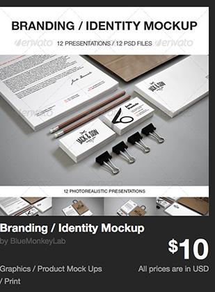 Branding / Identity Mockup by BlueMonkeyLab | GraphicRiver