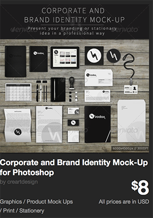 Corporate and Brand Identity Mock-Up for Photoshop by creartdesign