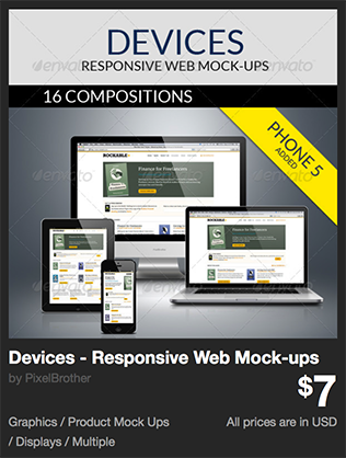 Devices - Responsive Web Mock-ups  by PixelBrother | GraphicRiver