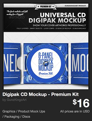 Digipak CD Mockup - Premium Kit by GunzKingzArt | GraphicRiver