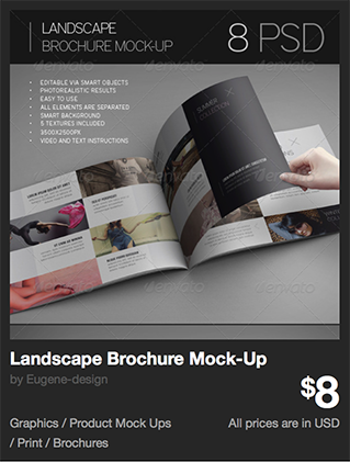 Landscape Brochure Mock-Up by Eugene-design | GraphicRiver