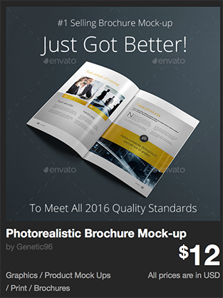 Photorealistic Brochure Mock-up by Genetic96 | GraphicRiver