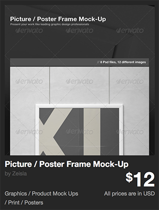 Picture / Poster Frame Mock-Up by Zeisla | GraphicRiver