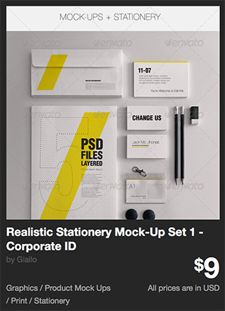 Realistic Stationery Mock-Up Set 1 - Corporate ID by Giallo | GraphicRiver