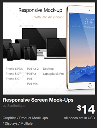 Responsive Screen Mock-Ups by Synthetique | GraphicRiver