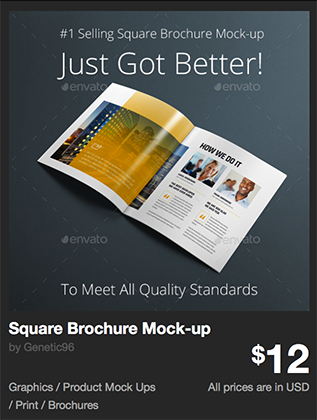Square Brochure Mock-up by Genetic96 | GraphicRiver