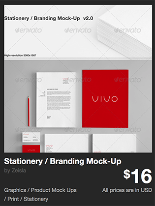 Stationery / Branding Mock-Up by Zeisla | GraphicRiver