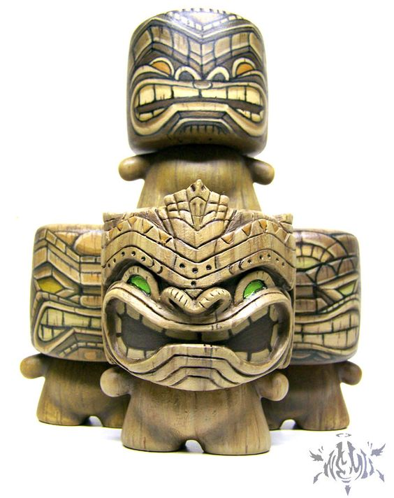 Tiki Marshall Vinyl Figures by Nemo - art wood