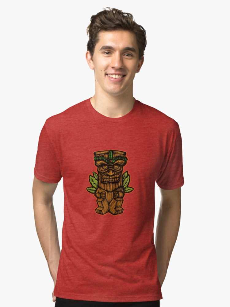 Camisetas de tejido mixto «Tiki monster» de angeldecuir | Redbubble