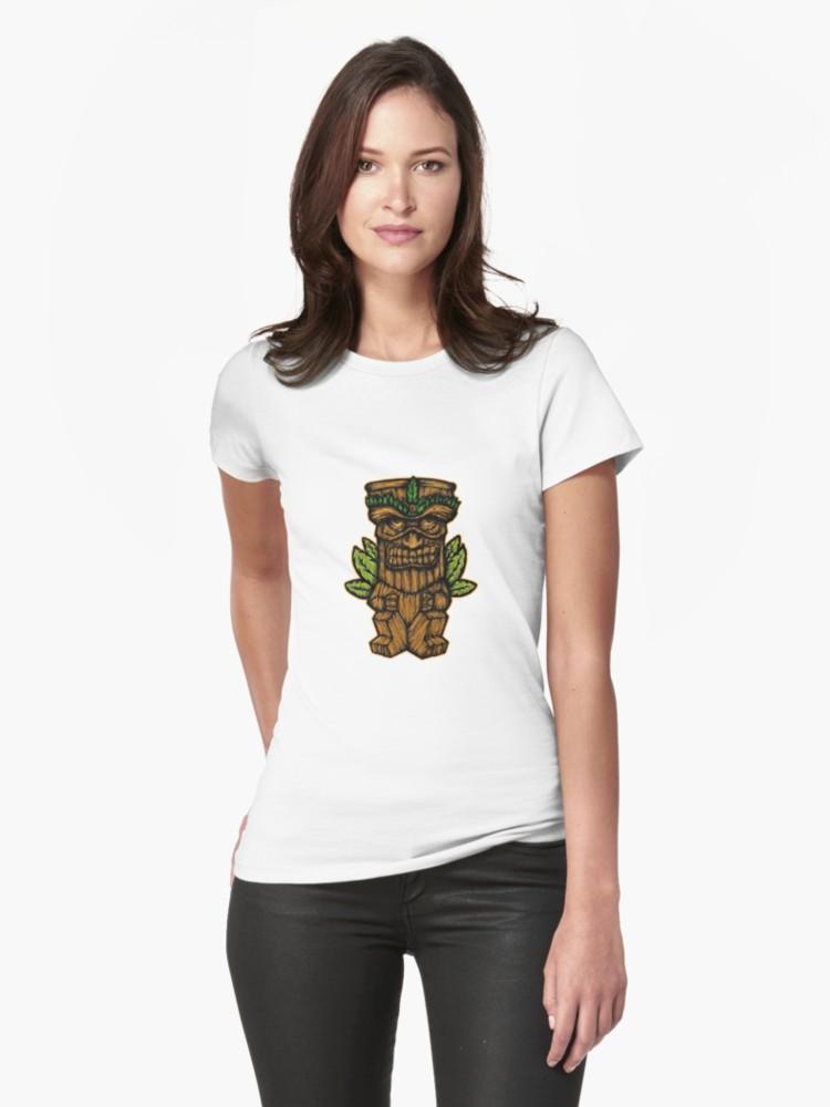 Camisetas entalladas para mujer «Tiki monster» de angeldecuir | Redbubble