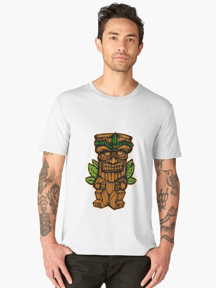 Camisetas premium para hombre «Tiki monster» de angeldecuir | Redbubble