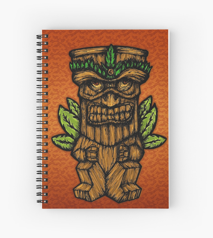 Cuadernos de espiral «Tiki monster» de angeldecuir | Redbubble