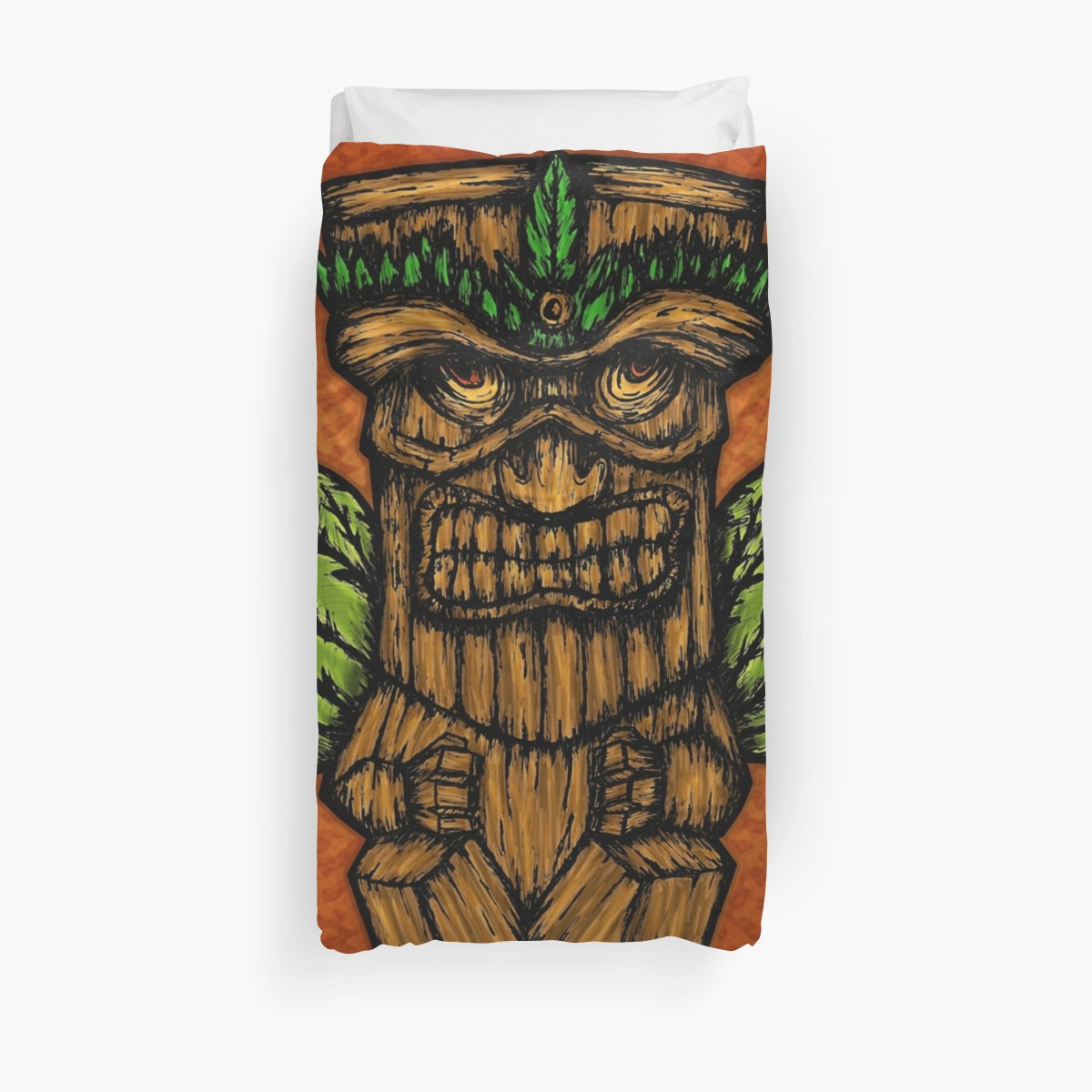 Fundas nórdicas «Tiki monster» de angeldecuir | Redbubble
