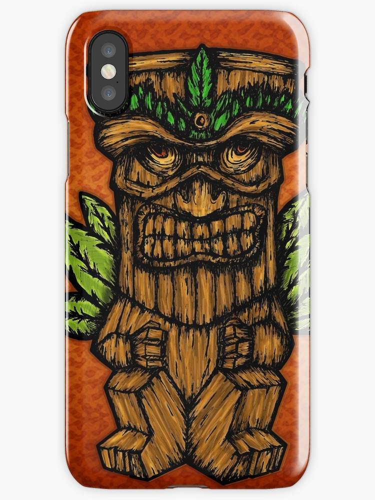 Vinilos y fundas para iPhone «Tiki monster» de angeldecuir | Redbubble