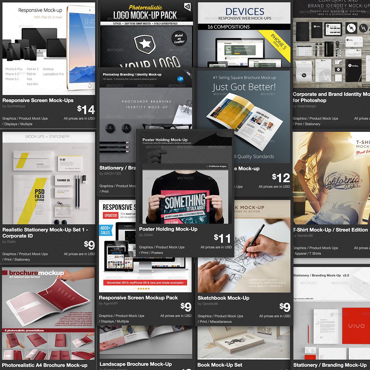 Los 30 Mock-Up más vendidos en GraphicRiver
