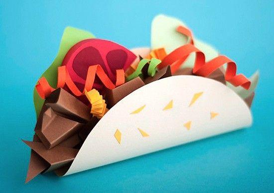 taco- Papel - Maria Laura Benavente - 3d illustration art