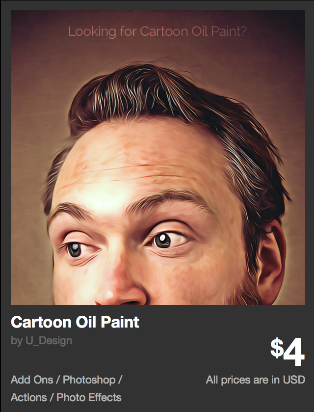 Cartoon Oil Paint by U_Design | GraphicRiver