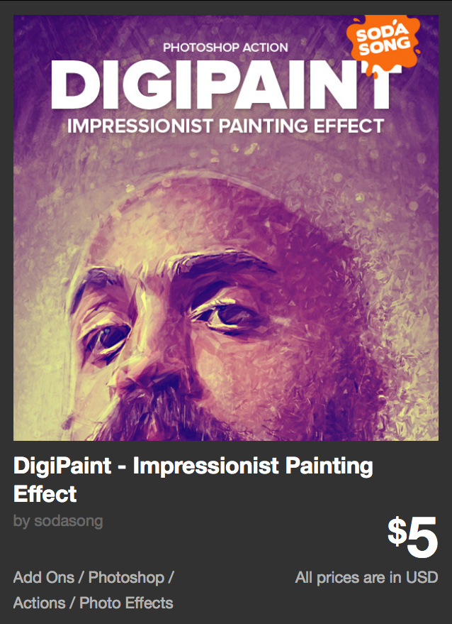 DigiPaint - Impressionist Painting Effect by sodasong | GraphicRiver
