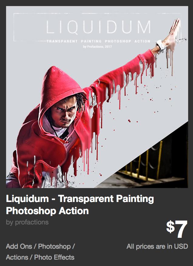 Liquidum - Transparent Painting Photoshop Action by profactions | GraphicRiver