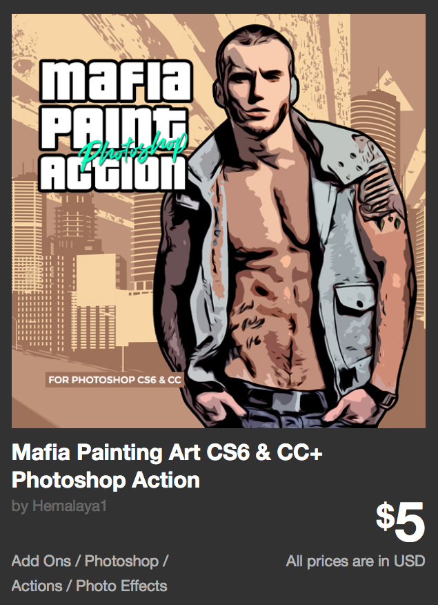Mafia Painting Art CS6 & CC+ Photoshop Action by Hemalaya1 | GraphicRiver
