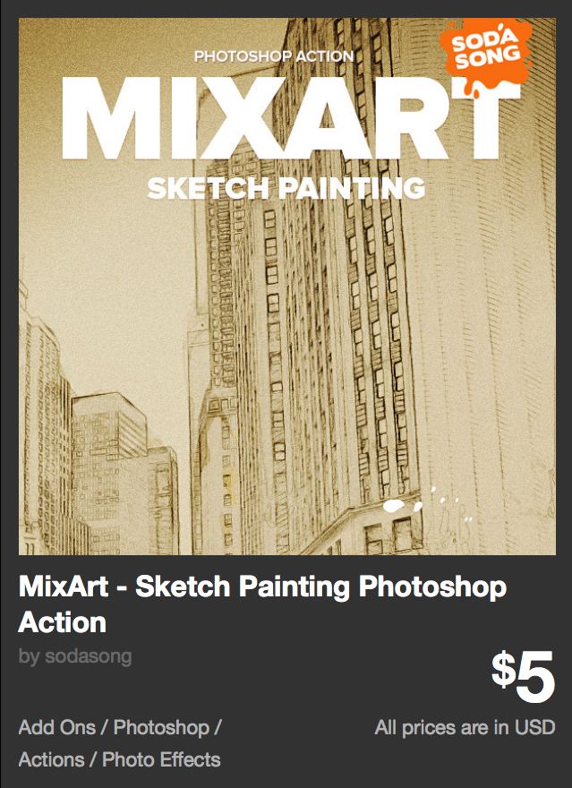 MixArt - Sketch Painting Photoshop Action by sodasong | GraphicRiver