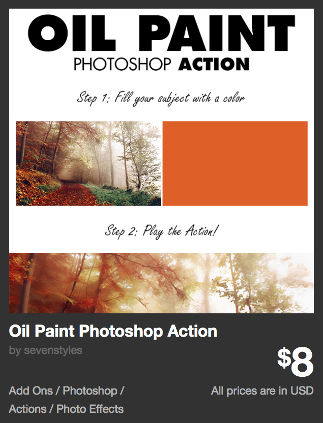 Oil Paint Photoshop Action by sevenstyles | GraphicRiver