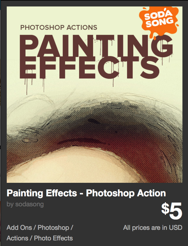 Painting Effects - Photoshop Action by sodasong | GraphicRiver