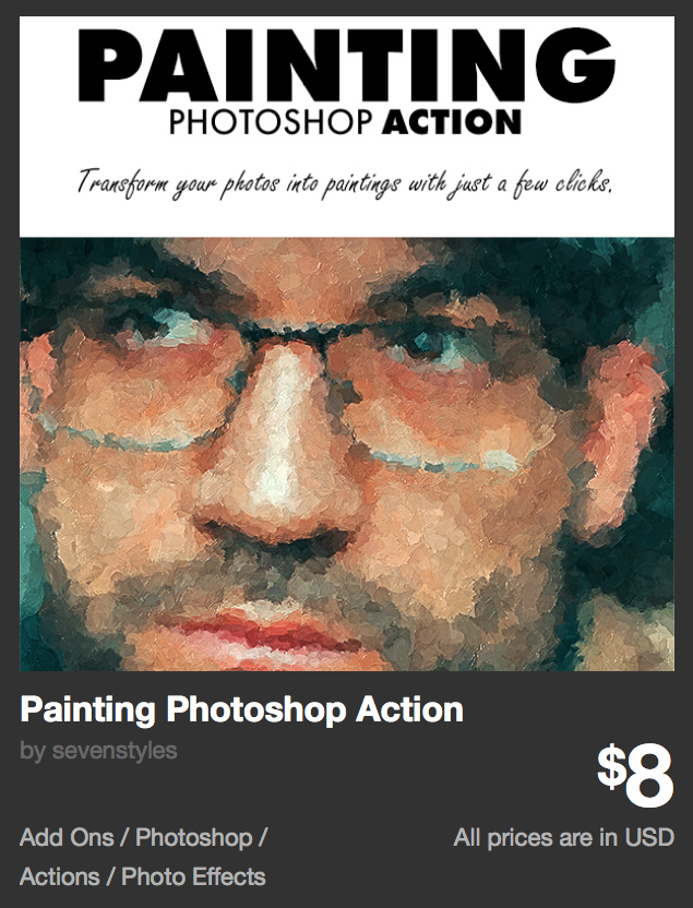 Painting Photoshop Action by sevenstyles | GraphicRiver