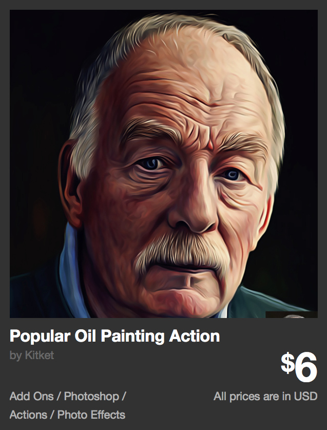 Popular Oil Painting Action by Kitket | GraphicRiver