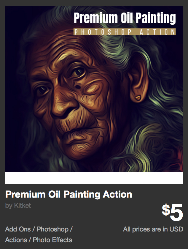 Premium Oil Painting Action by Kitket | GraphicRiver