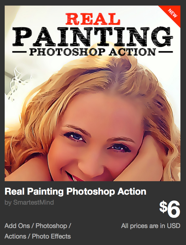 Real Painting Photoshop Action by SmartestMind | GraphicRiver